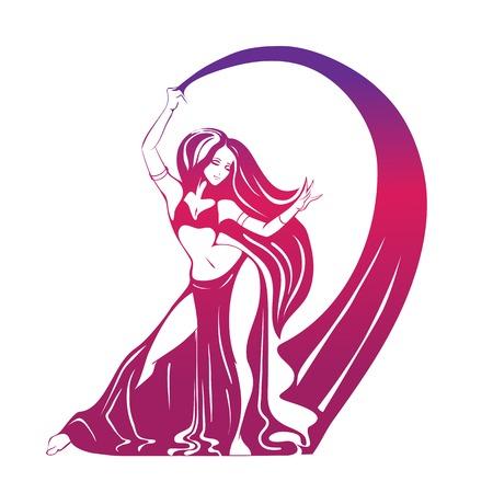 Flache Silhouette Zeichnung der Frau in ausdrucksstarke Pose Standard-Bild - 49597792
