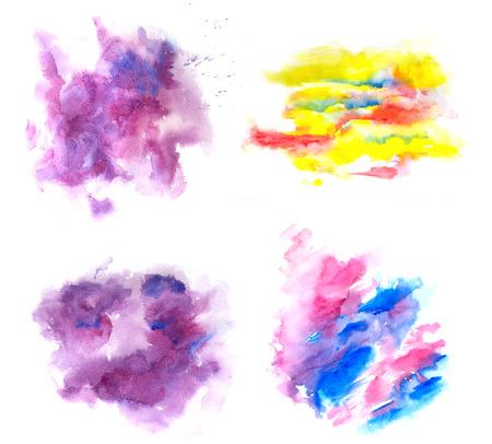 watercolor abstract textured blots 版權商用圖片