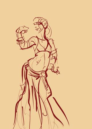 bellydancer: Tribal belly dancer icon.