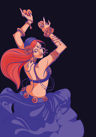 Tribal Fusion bellydance dancer graphic design