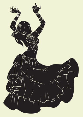 Tribal Fusion bellydancer dance silhouette