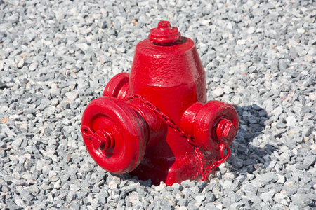 extinguishing: Used on war ships. Connected to the water depot Stock Photo