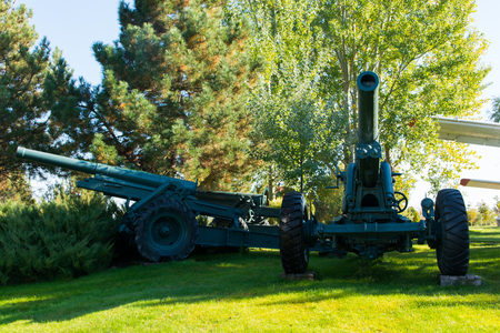 Old war cannon in the forest. War of Independence  Turkey