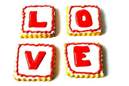 Cookies made for Valentine's Day.for couples in love. delicious love cookies. lovers cook Imagens