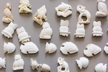 Meerschaum ornamental articles. usually used to make magnet, tobacco pipe, sculpture and jewelry. Almost all of meerschaum is removed from Eskisehir / Turkey.