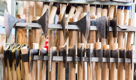 iron axes.hand-made axes in various sizes