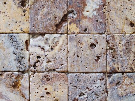 background made of natural stones. traverten stones Stock fotó