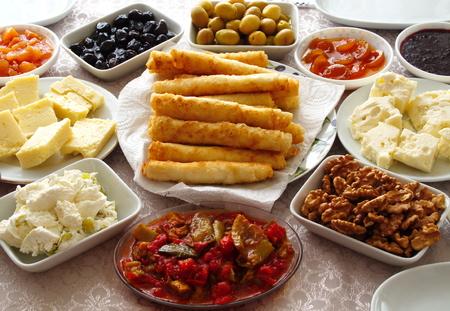 Weekend breakfast enjoyment. Brunch time. morning breakfast. classic Turkish breakfast