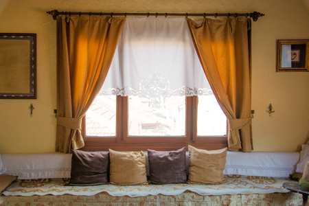 room decoration in old turkish houses. rustic turkish room design