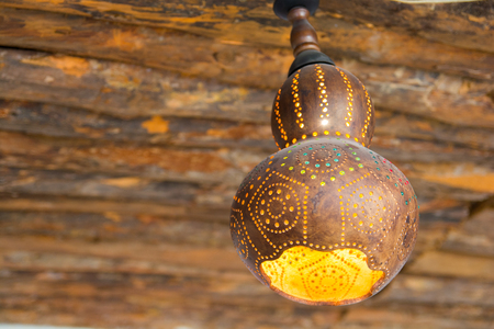 Water pumpkin lamp. handmade authentic decorative lamp.