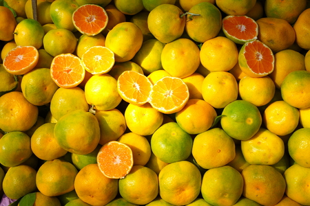 Satsuma Mandarins, tangerine.heap of mandarins on local market
