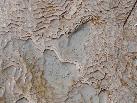 close-up background of cotton castle travertines Stok Fotoğraf