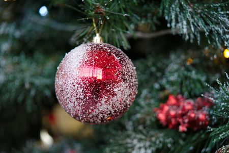 Christmas tree decorations. Christmas gifts and surprises