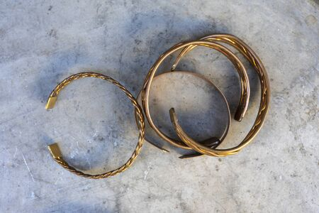 copper hand work. hand forged copper bracelets