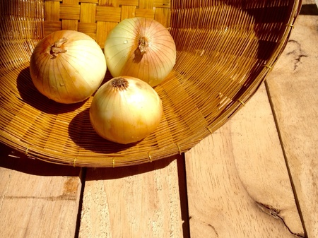 onions: Onions in the basket