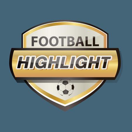 bottom line: badges football highlight club tv Illustration