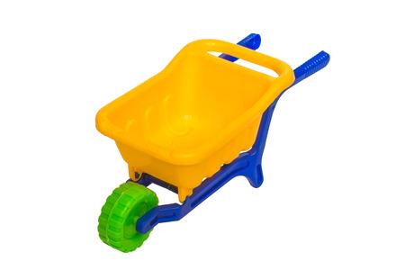 dumper: Toy 3 wheel 3 color small dumper Stock Photo