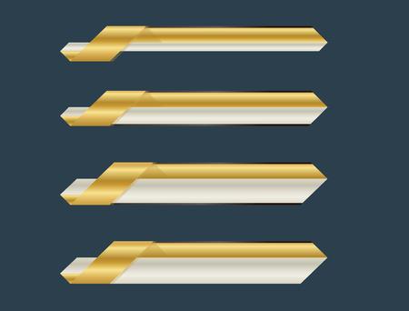 Ribbon lower third banner bar name future