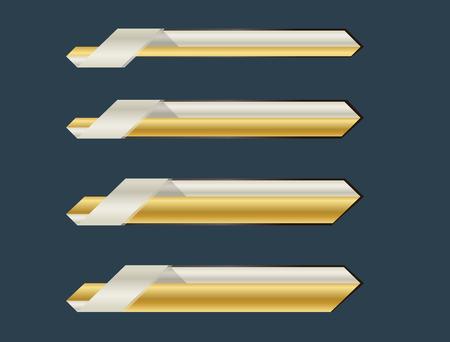 lower: Ribbon lower third banner bar name future