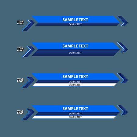 lowerthird banner bar name  イラスト・ベクター素材
