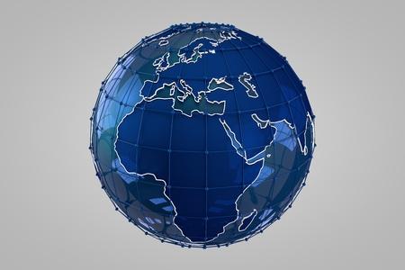 longitude: Blue Earth 3D render