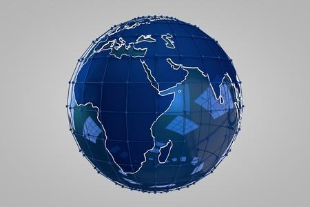multinational: Blue Earth 3D render