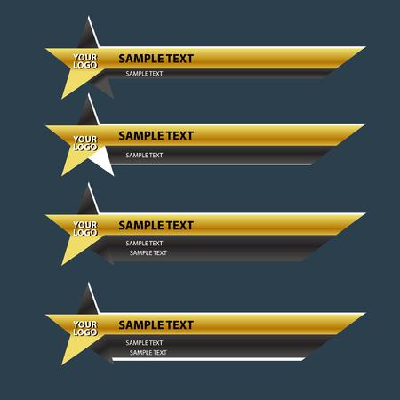 bottom line: Star lower third banner bar name screen broadcast