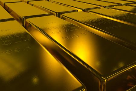 hombre millonario: Barras de oro en tres dimensiones del fondo concepto de negocio millonario
