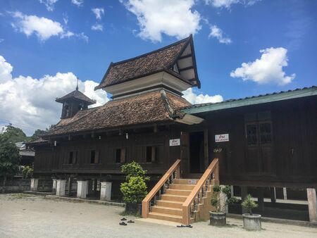 Narathiwat, Thailand - October19, 2018: The 300 Years Mosque or Talo Mano Mosque is one of the oldest mosques in Thailand. It is the oldest wooden mosque