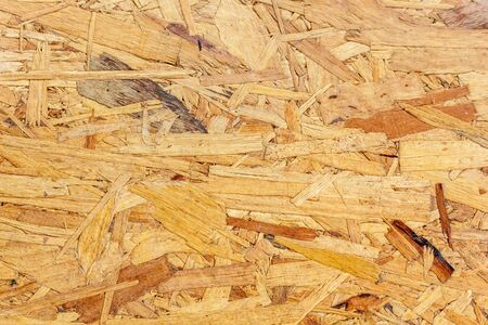 Texture of Pressed Wooden Panel. OSB (Oriented Strand Board) Stockfoto
