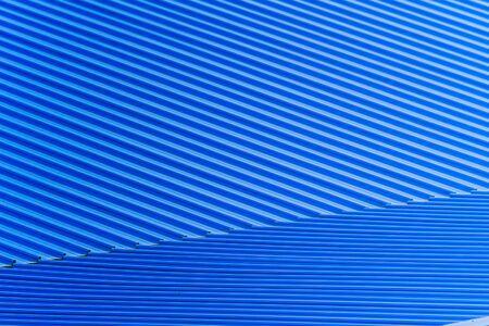 Modern blue metal sheet roof texture