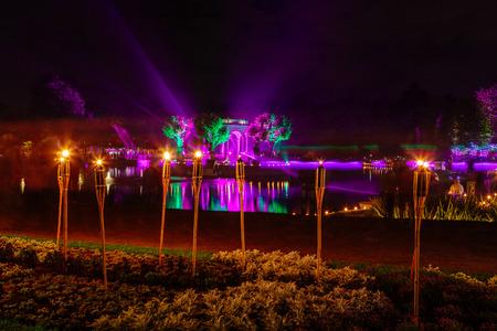 denver at christmas: Festival of lights in City Park Kadriorg, Tallinn, Estonia