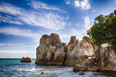 Coastal cliffs in the Black Sea, a Crimea photo