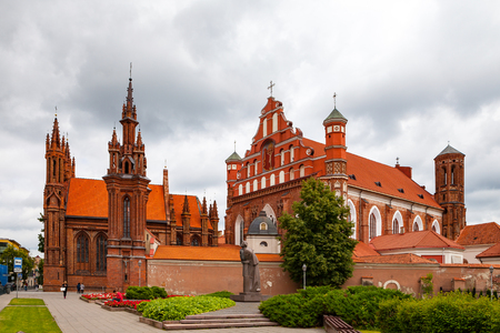 Church of St. Anne and church of the Bernardine in Vilnius, Lithuania
