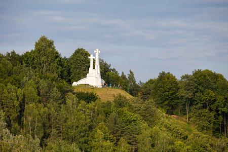 memorial cross: Three Crosses Monument on the Bleak Hill in Vilnius, Lithuania