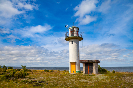 The old weather station near Baltic sea Stock Photo