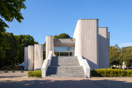 New example of Constructivism style in Vilnius, Lithuania 스톡 콘텐츠