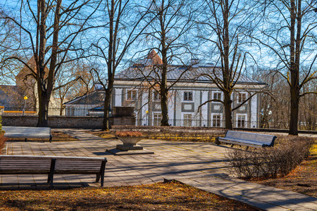 Garden of Governor in spring, Tallinn, Estonia, Europe Stock Photo