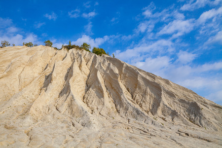 Sand hills of abandoned quarry. Autumn scene, Estonia