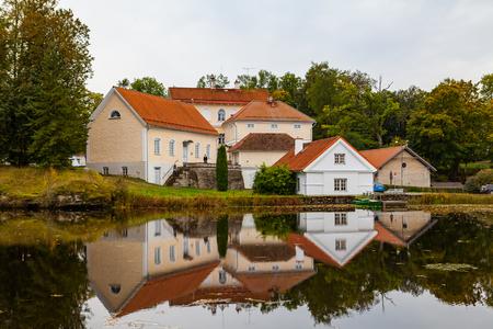 View of Vihula Manor in the north of Estonia. 18th century. Tourist destination. Stock Photo