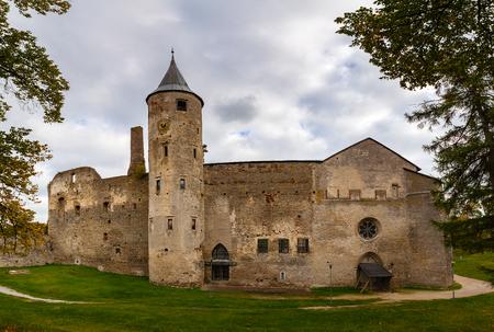 Ruins of the medieval episcopal castle of Haapsalu, Estonia Stock Photo