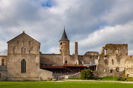 Ruins of the medieval episcopal castle of Haapsalu, Estonia Stock fotó