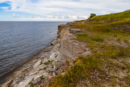 Cliffs at the coast in Paldiski, Estonia