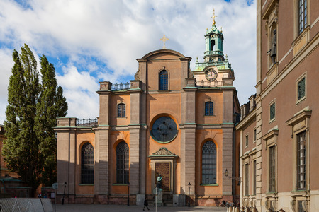 Storkyrkan (The Great Church, Stockholm Cathedral), is the oldest church in Gamla stan, the old town.