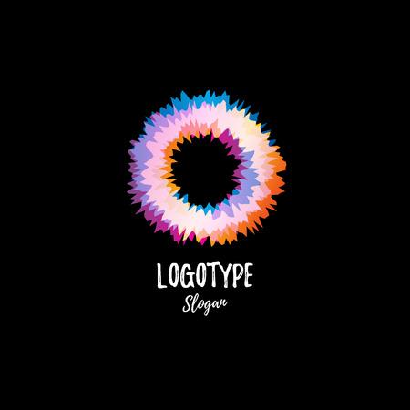 vibration: Color wheel, donuts, circle. Vibration. Illustration