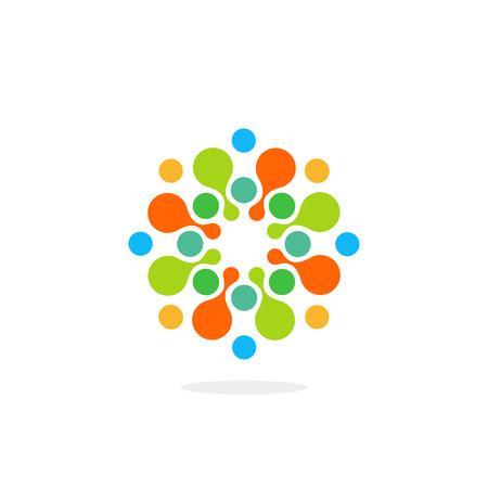 medical symbol: Abstract chem symbol. Abstract medical Illustration