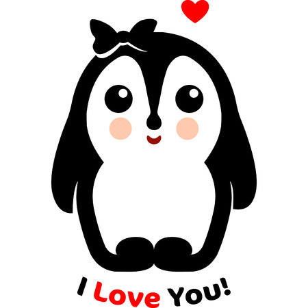 love declaration: Loving pet. Loving penguin. Declaration love. Red heart. Valentines Day. Favorite people. Confession. Wedding.