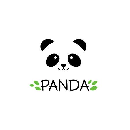パンダの標識です。パンダ。パンダはベクトル イラストです。パンダ頭。ベクトル パンダ頭。パンダは笑顔します。たけくま。中国のクマ。パンダ