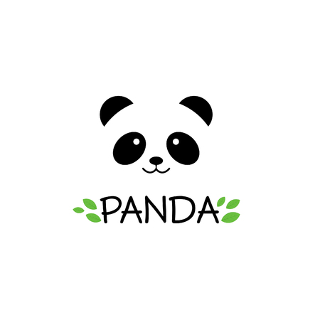 Panda sign. Panda  . Panda vector illustration. Panda head. Vector panda head. Panda smile. Bamboo bear. Chinese bear. Panda carnival. Cute panda.