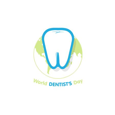 irrigator: World Dentists Day. Dental clinic Illustration